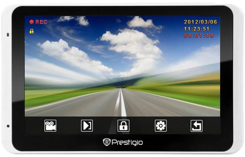 "GPS-навигатор Prestigio GeoVision 5800BTHDDVR 5"" белый - фото 1"