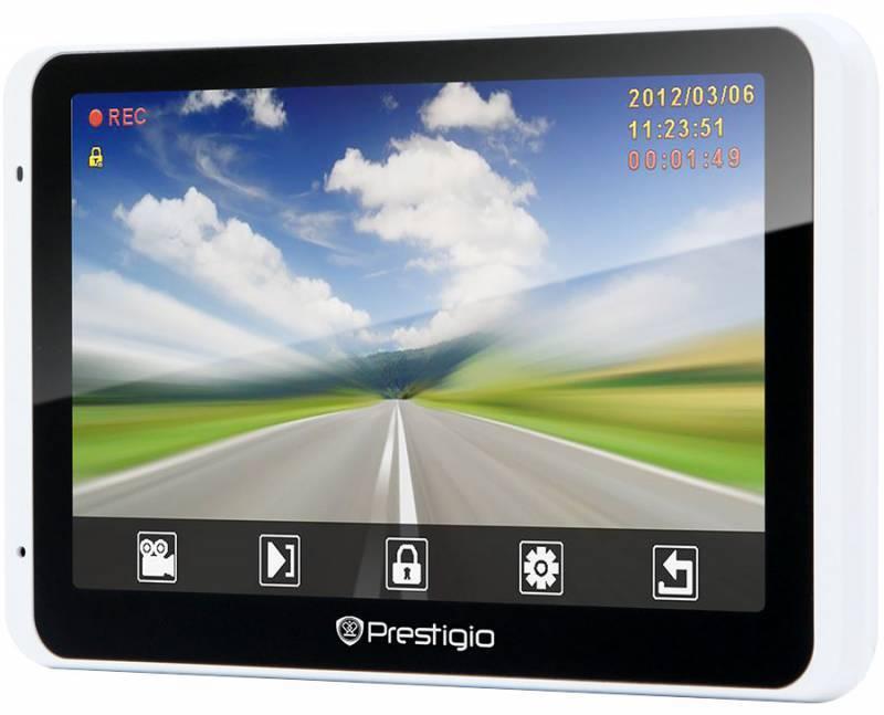 "GPS-навигатор Prestigio GeoVision 5800BTHDDVR 5"" белый - фото 2"