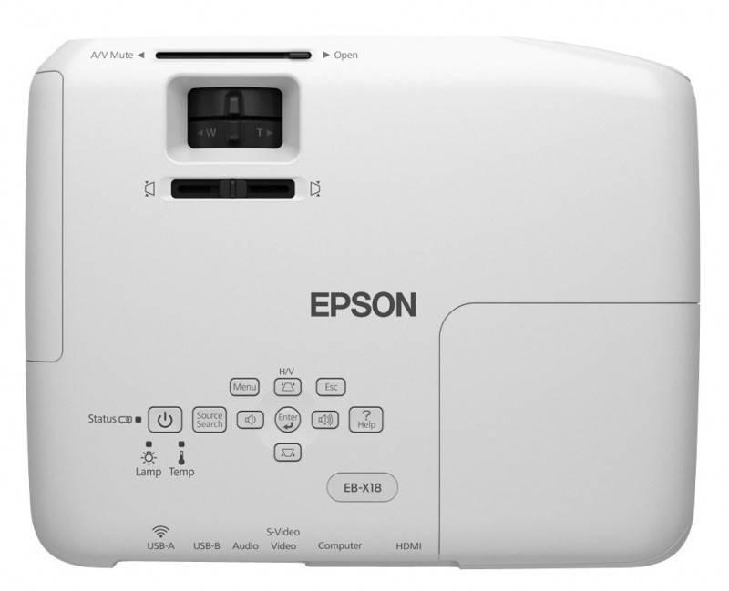 Проектор Epson EB-X18 белый - фото 4