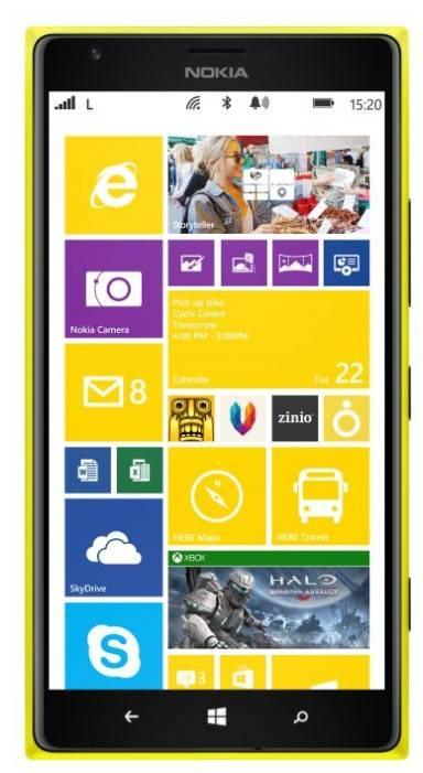 Смартфон Nokia Lumia 1520 желтый - фото 1