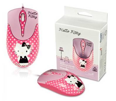 Мышь Genius NetScroll 310 Hello Kitty розовый/рисунок - фото 1