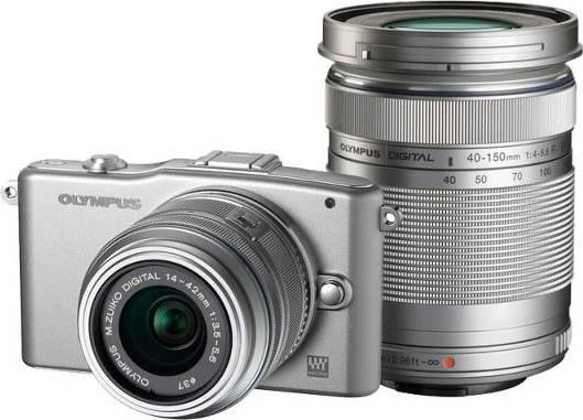 Фотоаппарат Olympus PEN E-PM1 kit серебристый - фото 1