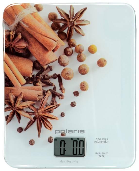 Кухонные весы Polaris PKS0832DG белый/специи - фото 1