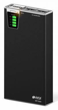 Мобильный аккумулятор Hiper MP15000 Li-Ion 15000mAh черный