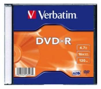 Диск DVD-R Verbatim 4.7Gb 16x (100шт) (43547)
