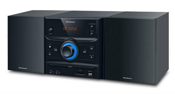 Микросистема Rolsen RMD-300 черный/серебристый - фото 1