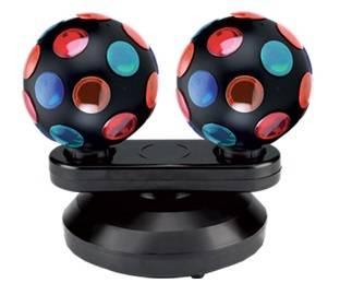 Световой эффект Funray-184 диско-шар настольный двойной d-12.2см 220V 2x15W E14 - фото 1