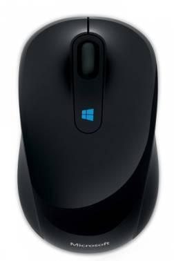 Мышь Microsoft Sculpt + карта 200руб. в подарок черный (43U-00004-P)