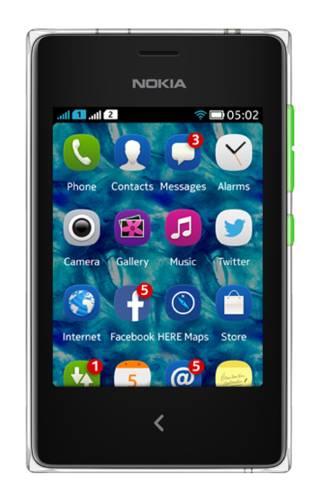 Мобильный телефон Nokia Asha 502 Dual SIM зеленый - фото 1