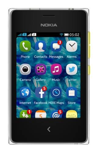 Мобильный телефон Nokia Asha 502 Dual SIM желтый - фото 1