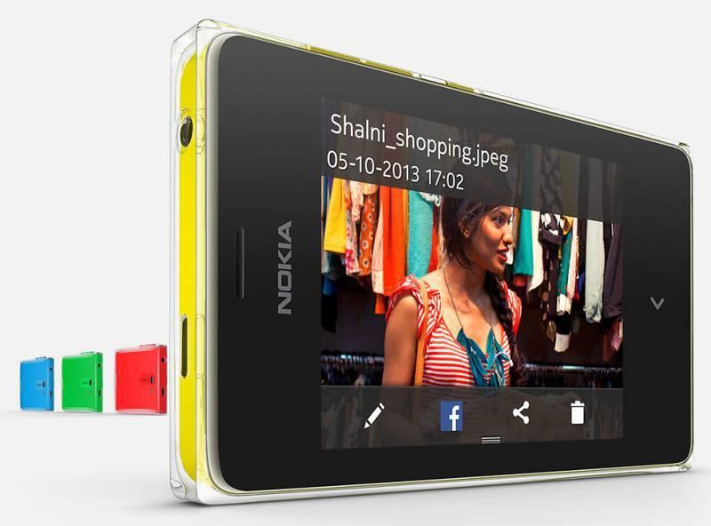 Мобильный телефон Nokia Asha 502 Dual SIM желтый - фото 3