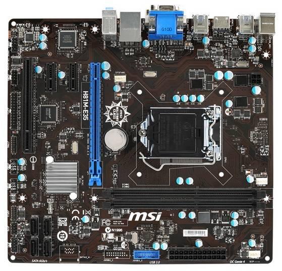 Материнская плата Soc-1150 MSI H81M-E35 mATX - фото 2
