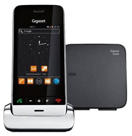 Телефон Gigaset SL930A серебристый металлик - фото 1