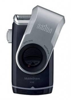 Электробритва Braun MobileShave M-90 черный/серебристый (81455568)