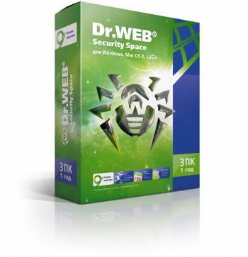 Базовая лицензия DR.Web 3 ПК 1 год (BHW-B-12M-3-A3)