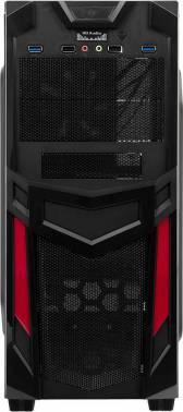 Корпус ATX Accord R-03B черный/красный (ACC-R03B)
