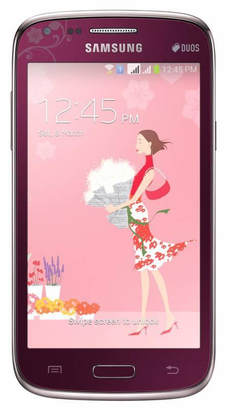 Смартфон Samsung Galaxy Core La Fleur GT-I8262 8ГБ красный - фото 1