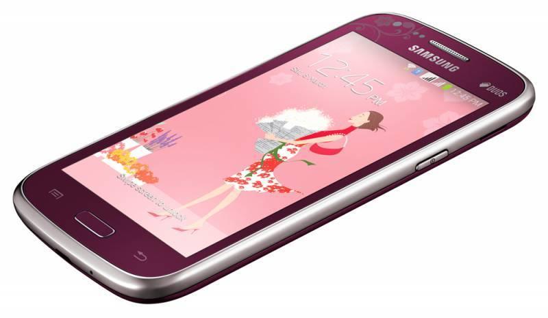 Смартфон Samsung Galaxy Core La Fleur GT-I8262 8ГБ красный - фото 2