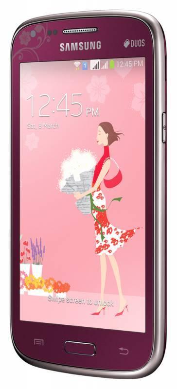 Смартфон Samsung Galaxy Core La Fleur GT-I8262 8ГБ красный - фото 3