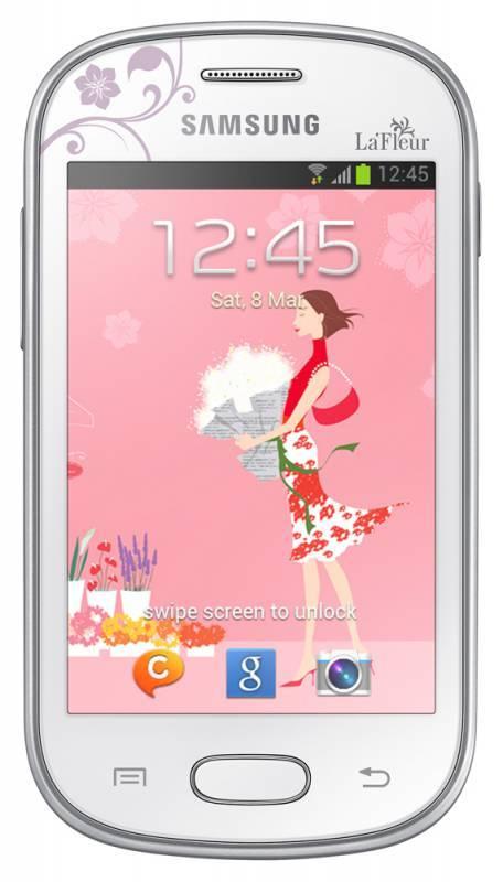 Смартфон Samsung Galaxy Fame Lite La Fleur GT-S6790 4ГБ белый - фото 1