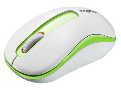 Мышь Rapoo M10 белый/зеленый - фото 1