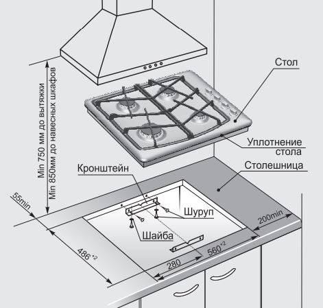 Газовая варочная поверхность Gefest СГ СН 1211 белый - фото 2