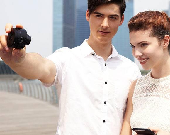 Фотоаппарат Sony DSC-QX10 черный - фото 9