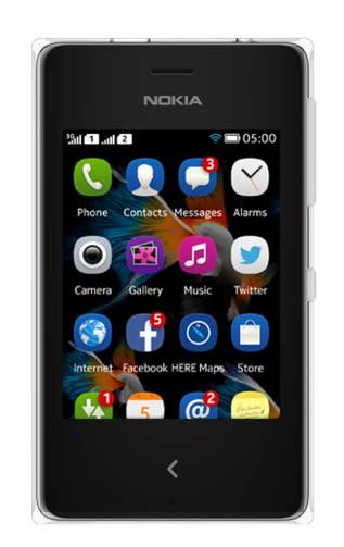 Мобильный телефон Nokia Asha 500 Dual Sim белый - фото 1