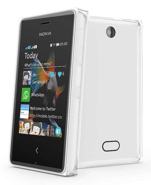 Мобильный телефон Nokia Asha 500 Dual Sim белый - фото 4