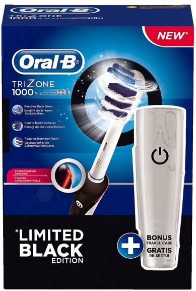 Электрическая зубная щетка Oral-B 1000 + дорожный контейнер черный - фото 2