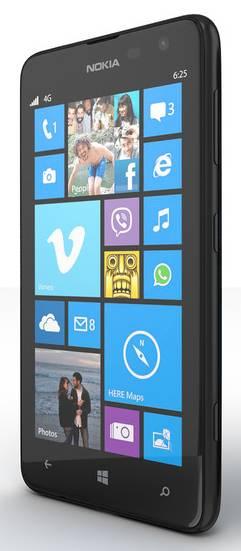 Смартфон Nokia Lumia 625 3G черный - фото 2
