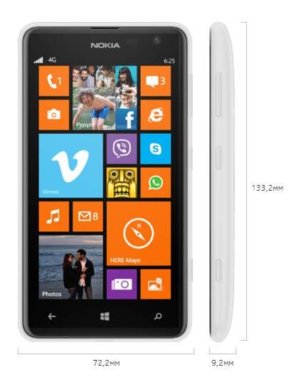 Смартфон Nokia Lumia 625 3G белый - фото 3