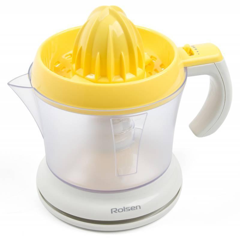 Соковыжималка цитрусовая Rolsen RCJ-255 белый/желтый - фото 1