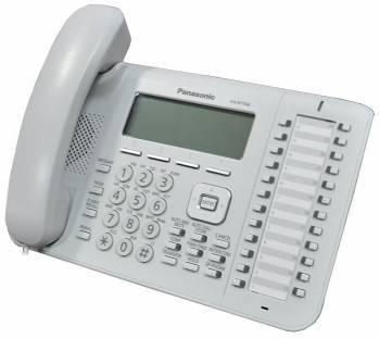 Системный телефон цифровой IP Panasonic KX-NT543RU белый