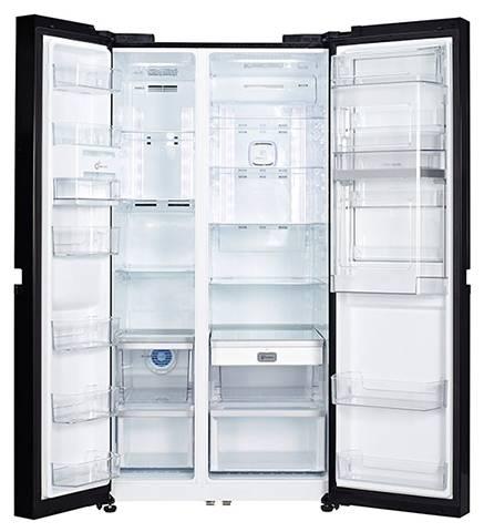 Холодильник LG GR-M257SGKR черный - фото 2