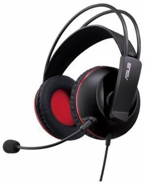 Наушники с микрофоном Asus Cerberus черный / красный