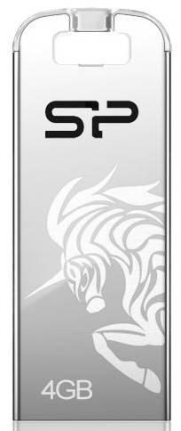 Флеш диск 4Gb Silicon Power Touch T03 USB2.0 серебристый - фото 1