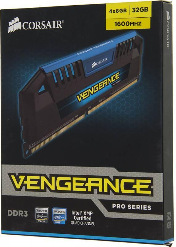 Модуль памяти DIMM DDR3 4x8Gb Corsair CMY32GX3M4A1600C9B - фото 3