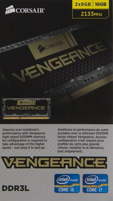 Модуль памяти SO-DIMM DDR3L 2x8Gb Corsair CMSX16GX3M2B2133C11 - фото 3
