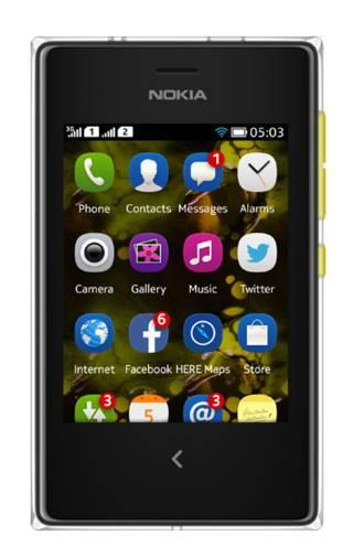 Мобильный телефон Nokia Asha 503 Dual Sim желтый - фото 1