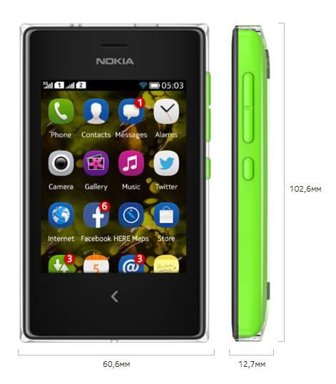 Мобильный телефон Nokia Asha 503 Dual Sim зеленый - фото 2