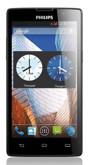 Смартфон Philips W3500 черный - фото 1