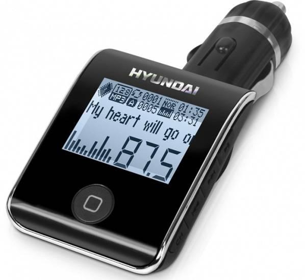 FM-модулятор Hyundai H-FMT19BT черный - фото 1