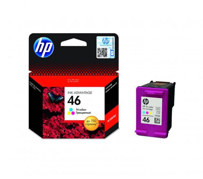 Картридж струйный HP 46 CZ638AE многоцветный - фото 1