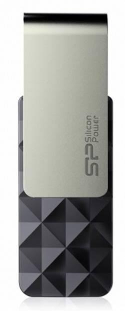 Флешка Silicon Power Blaze B30 16ГБ USB3.0 черный/серый (SP016GBUF3B30V1K) - фото 1