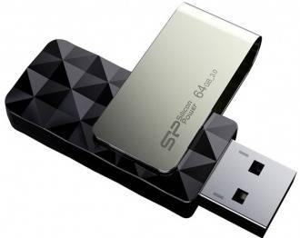 Флеш диск Silicon Power Blaze B10 64ГБ USB3.0 черный / серый