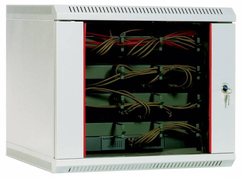 Шкаф коммутационный ЦМО ШРН-9.300 9U серый - фото 1