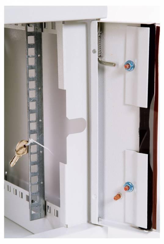 Шкаф коммутационный ЦМО ШРН-9.300 9U серый - фото 6