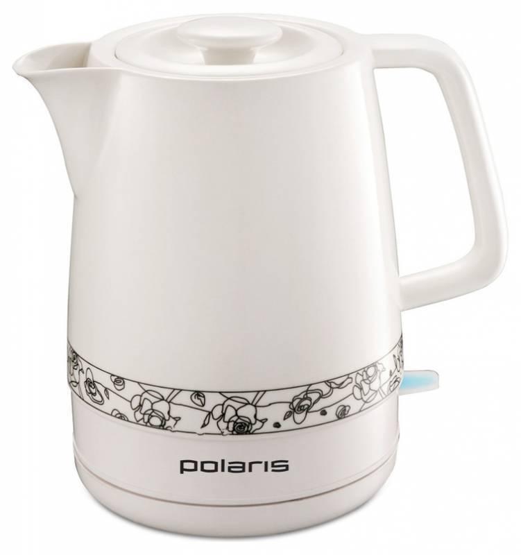Чайник электрический Polaris PWK 1731CC белый/рисунок - фото 1