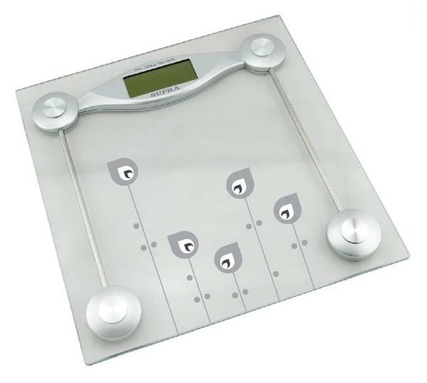 Весы напольные электронные Supra BSS-2061 серебристый - фото 1